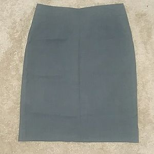 Dark gray pencil skirt